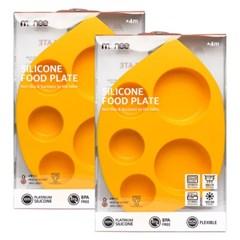 모니 이유식용품 이유식기 실리콘 흡착식판 2세트 (수량2)