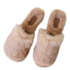 kami et muse Soft long fur slippers_KM19w097