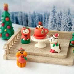 데꼴 크리스마스 화이트 계단광장 피규어