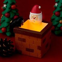 데꼴 2019 크리스마스 LED 벽난로 피규어 한정판