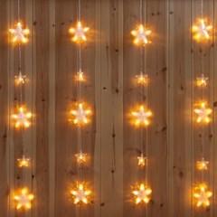 겸용LED 136P 커튼별 투명선연결용 크리스마스 TRDELB_(1577632)