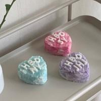 하트 이니셜 케이크 믹스 캔들 3color 4scent