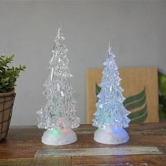 크리스마스 투명 트리 LED 워터볼 (대/소)