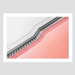 미니멀 건축사진 인테리어 포스터 vol.1(핑크 계단)