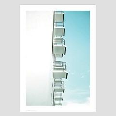 미니멀 건축사진 인테리어 포스터 vol.1(바우하우스 발코니)