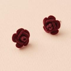 겨울 장미꽃 귀걸이