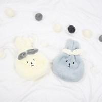 토끼 밍크 털 극세사 파우치 - 2color