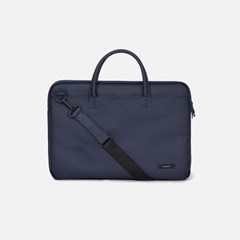 DOUBLE SLIM BRIEFCASE Navy