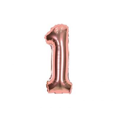 숫자은박풍선 소 [1] 로즈골드