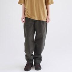waist button detail wide pants (khaki)_(1371249)