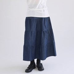 cancan denim crease skirts (2colors)_(1371243)