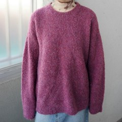 round neck curly knit (3colors)_(1369572)