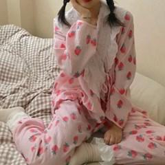 스트로베리 파자마 여성잠옷 세트 CH1506948
