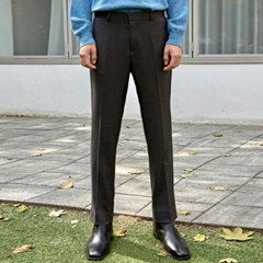 CLEAN STRAIGHT LONG SLACKS_CHARCOAL