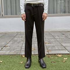 CLEAN STRAIGHT LONG SLACKS_BLACK