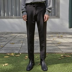 DUAL SLIM STRAIGHT SLACKS_BLACK