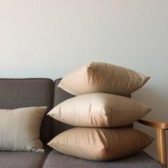 주조밍 트윌코튼 쿠션커버 beige series(45x45)