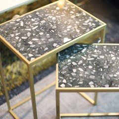 마블 직사각 사이드 테이블