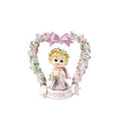 하트 아치 핑크 천사