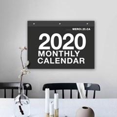 퍼니즈 2020년 메르시 벽걸이 달력 모노심플 모던 캘린더