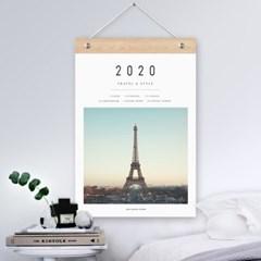 퍼니즈 2020년 감성유럽 달력 파리 에펠탑 벽걸이 캘린더