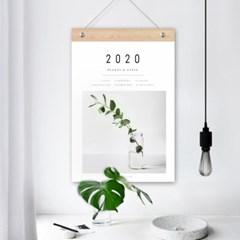 퍼니즈 2020년 보테니컬 달력 몬스테라 식물 벽걸이 캘린더