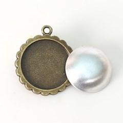 자수용 둥근꽃메달[1275]