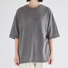 wool texture loose tee (charcoal)_(1372400)