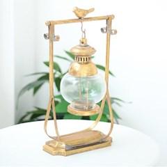 골드 새 빈티지 호롱사각 촛대