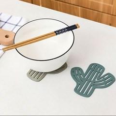 선인장 컵 받침대1개(색상랜덤)