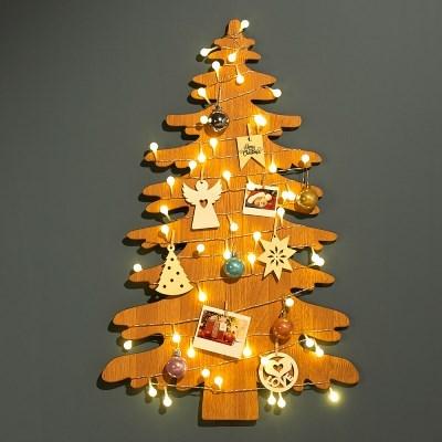 하우쎈스 크리스마스트리 우드 스탠드 겸용 벽트리