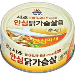 사조 100%국내산리얼안심훈제닭가슴살90gx12캔