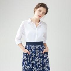 [클라모드] 컷앤쏘운 배색 앞치마 스커트