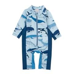 앨리빌리 고래 아기래쉬가드 와플 수영복 스윔슈트