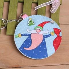 멋쟁이 산타 동전지갑(실바늘 포함)