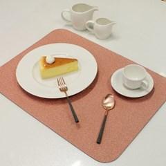 아르떼펠레 샌드 펄 양면 테이블매트 샌드 블랙/핑크 1P
