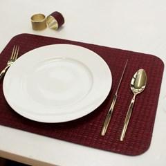 [1+1] 아르떼펠레 악어가죽무늬 양면 테이블매트 와인/네이비 1P