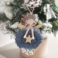 양모별천사 10cm 크리스마스 인형 장식 소품 TRDOLC_(1592607)