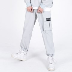 (UNISEX)Wearable Stopper Cargo Pants(GREY)