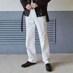 STAND WIDE COTTON PANTS_IVORY