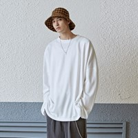 SOLID OVER LONG TEE_IVORY