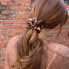 호피 스크런치 곱창 머리끈_(2585317)