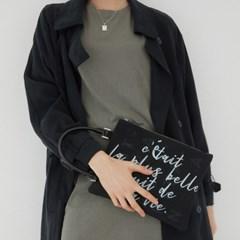 아말피 블랙 클러치/토트백 (Amalfi Black clutch/tote bag)