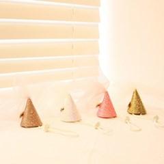핸드메이드 웨딩피치 고양이 고깔 모자 / 강아지 고깔모자