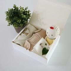 [핸즈] 애착 출산선물 4종 세트 B (여아)