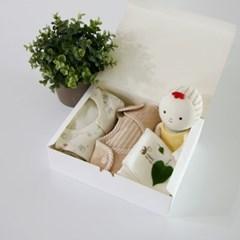 [핸즈] 애착 출산선물 4종 세트 A (남여공용)