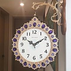로얄퍼플 양면시계 인테리어벽시계 CH1506913
