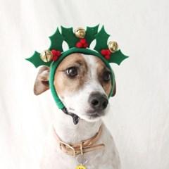 크리스마스트리 열매 머리띠 고양이 강아지 모자 Miyopet
