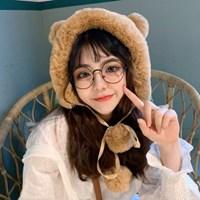 리치 곰돌이 방울 털모자 방한 모자_(2275203)