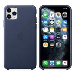 iPhone 11 Pro Max 가죽 케이스 - 미드나이트 블루 MX0G2FE